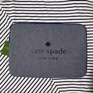 NEW Kate Spade Ash Street Laptop Case Blazer Blue
